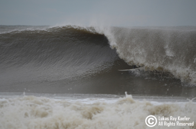 Heavy, freezing NJ barrel. Monmouth County, December 2012. Photo: Lukas Kaefer